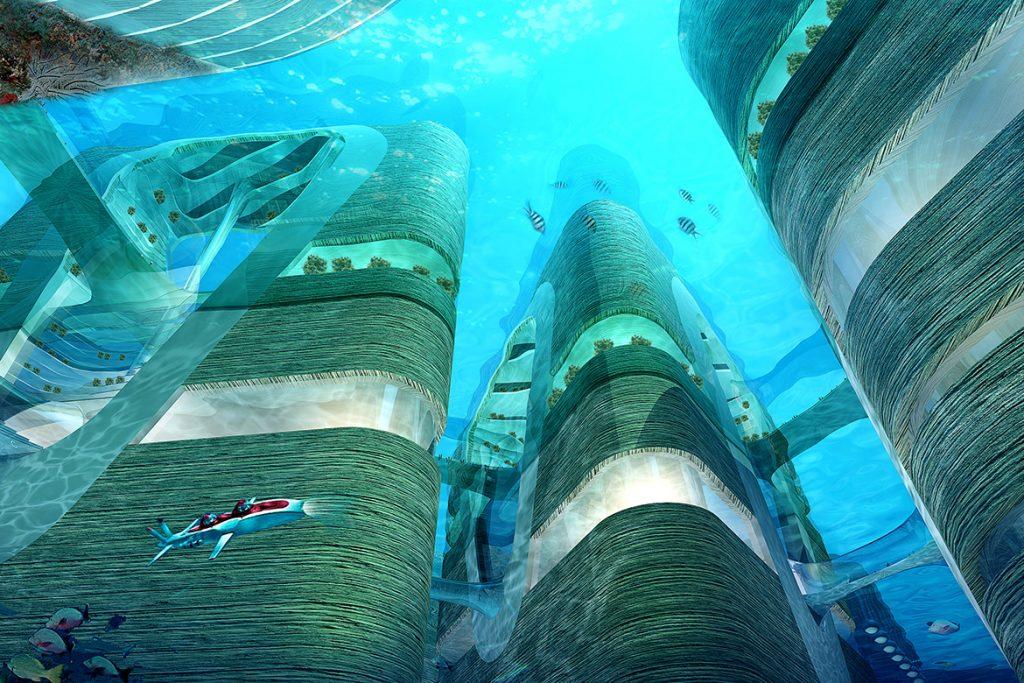 水中城水下